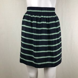 Club Monaco Striped Silk Skirt Size S/P